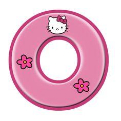 Oh my Alfabetos!: Alfabeto de Hello Kitty con letras grandes. Hello Kitty Birthday Theme, Hello Kitty Themes, Hello Kitty Pictures, Kitty Images, Polka Dot Letters, Hello Kitty Imagenes, Disney Frames, Hello Kitty Wallpaper, Alphabet And Numbers