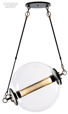 33 New Lighting Products to Brighten Up Any Space :: Otto pendant in steel, brass, and glass by Hubbardton Forge.