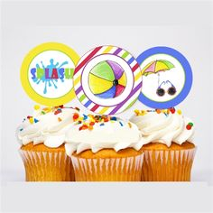 Instant Download ~ Cupcake Toppers $3.50