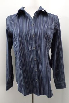 Eddie Bauer Blue Wrinkle Resistant Button Down Shirt Size L #EddieBauer #ButtonDownShirt #Casual