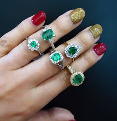 There is something special about emeralds that we love. The uniqueness, the rareness, the vibrance and most of all the colour!! Our selection of emerald rings are to die for.