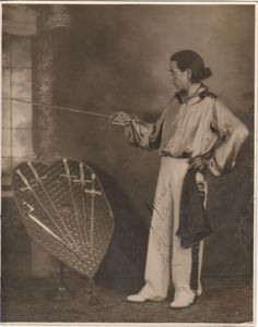 Leo the Italian Sword Swallower circa 1920s Photo used courtesy of  Sword Swallowers Association International (SSAI) Sword Swallower's Hall of Fame  http://www.swordswallow.com/halloffame.php