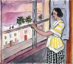 Young Woman at the Window, Sunset - Henri Matisse