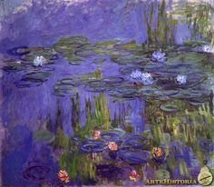 Claude Monet Water-Lilies 30 painting, oil on canvas & frame; Claude Monet Water-Lilies 30 is shipped worldwide, 60 days money back guarantee. Wassily Kandinsky, Claude Monet Pinturas, Monet To Matisse, Artist Monet, Art Sur Toile, Lily Painting, Monet Paintings, Poster Prints, Art Prints