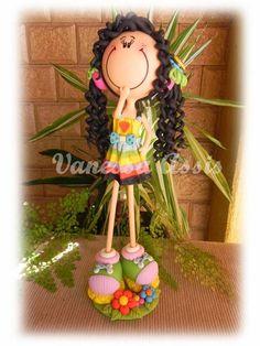 Boneca Magrela em Biscuit