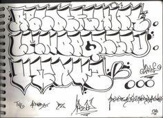 graffiti alphabet bubble style - pixbim.com