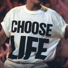 CHOOSE LIFE T-Shirt Wham Replica George Michael by VintagestoreGB