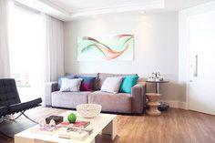 Inspiração de sala, arejada e clean