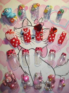 ★Kawaii Japanese Nail Art Tips ~2~★ by Pinky Anela, via Flickr #3D nails #nail art #nails #Japanese