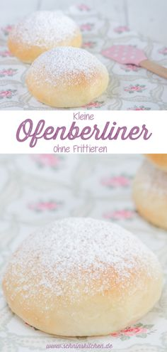 Kleine Ofenberliner mit Marmelade - Schnin's Kitchen Fluffy, small oven Berliners with delicious jam Dessert Parfait, Canned Blueberries, Vegan Scones, Gluten Free Flour Mix, Small Oven, Scones Ingredients, Vegan Blueberry, Muffin Recipes, Kitchen Recipes