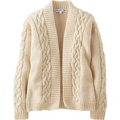 Ines Heavy Gauge Cable Cardigan (€35) ❤ liked on Polyvore featuring tops, cardigans, cardigan top, pink cable knit cardigan, cable cardigan, pink top and pink cardigan
