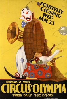 Poster for Bertram Mill's Circus