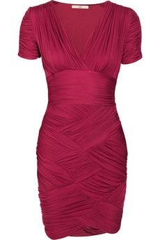 Halston Heritage - Ruched stretch-crepe jersey dress! Could never wear it though.