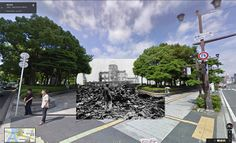 google walk photos #combined with #vintage #old photographs