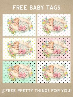 Baby Shower Gifts: Printable Tags