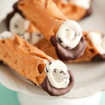 Chocolate Dipped Cannoli image