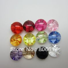 """Aliexpress.com : Buy Free Shipping 100 Pcs Random Mixed Acrylic Buttons Sewing Mushroom Domed Round 10mm(3/8"""")Dia. Knopf Bouton(W02453) from..."""