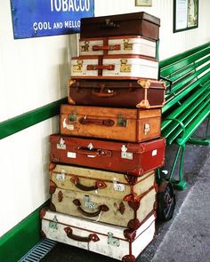 Vintage luggage at t