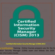 Take online Certified Internet Security Auditor (CISA), Certified Information Systems Security Professional (CISSP) 2013, SSCP | IT Security Career, C