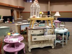 Our shabby chic furniture displayed at the Divine Design event