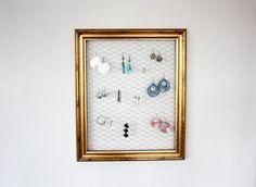DIY Frame Earring Holder - Morning Creativity