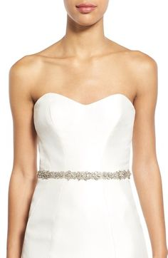 Nitin Crystal Embellished Tulle Sash available at #Nordstrom