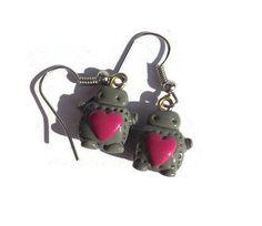 Robot earrings by TrufflesAndTrinkets on Etsy