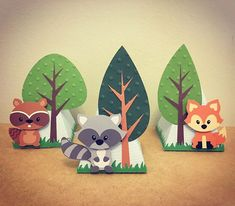 Birthday Gifts Diy Baby Ideas For 2019 Forest Party, Woodland Party, Forest Theme, Fox Party, Animal Party, Animal Birthday, Birthday Diy, Birthday Gifts, Fete Laurent