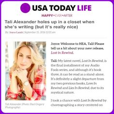 Who wants to see inside my closet?   Full Article:  http://bit.ly/TaliAlexanderUSAToday  #USAToday #Read #Enjoy #Share USA TODAY
