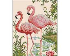 ponto cruz flamingo ile ilgili görsel sonucu