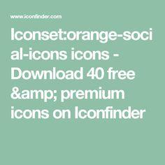 Iconset:orange-social-icons icons - Download 40 free & premium icons on Iconfinder