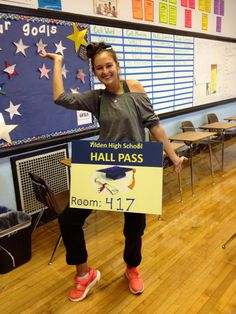 Best hall pass...for Lisa...take pics please!