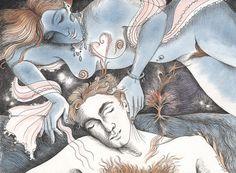 "Saatchi Online Artist Phyllis Mahon; Painting, ""Night Journey ~ love thoughts"" #art"