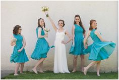 turquoise bridesmaid dresses // photo by erin krizo - lasting snapshots