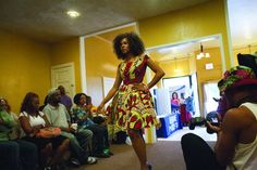 Natural hair and fashion show in Chicago's Austin neighborhood.