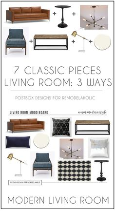 Create 3 Different Looks with Only 7 Pieces of Furniture, by Postbox Designs Interior E-Design for Remodelaholic, Farmhouse Design, Boho Design, Modern Design