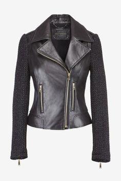 Mixed Media Moto Jacket...some how I really like this jacket