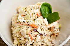A diabetic recipe for your next picnic:  coleslaw. Includes all nutritional and diabetic exchange information to help people with type 1 diabetes or type 2 diabetes manage their blood glucose levels.