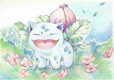 Bulbasaur, smiling; Pokémon