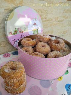 Rosquillas de Mamá Rosa Doughnut, Cereal, Breakfast, Desserts, Food, Beach Chairs, Raspberry Muffins, Pies, Pastries