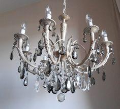 Gorgeous ROME APARTMENT chandelier vintage 8 arms by LorellaDia, $850.00