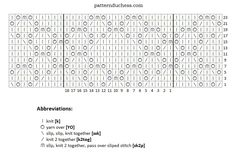 Shawl of Solitaire chart