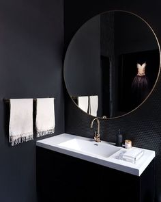 dark bathroom 10 Bathroom Paint Colors Interior Designers Swear By Black Bathroom Paint, Best Bathroom Paint Colors, Dark Bathrooms, Beautiful Bathrooms, Small Bathroom, Bathroom Ideas, Shower Bathroom, Ikea Bathroom, Bathroom Goals