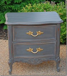 Dixie nightstand painted CeCe Caldwell Pittsburg Gray