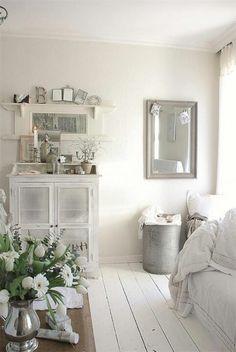 Zo besmettelijk, maar zo mooi, een houten witte vloer.