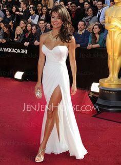 Emmy Style Dresses - $135.99 - Brilliant Sheath Sweetheart Floor-Length Chiffon  Charmeuse Emmy Style Dresses with Ruffle (026003531) jenjenhouse.com