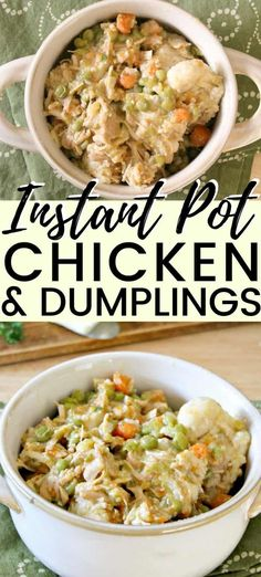 This easy Instant Pot chicken and dumplings recipe is made with canned biscuits and perfect for when. - This easy Instant Pot chicken and dumplings recipe is made with canned biscuits and perfect for when. Easy Chicken Pot Pie, Chicken Recipes, Canned Chicken, Chicken Soup, Instapot Chicken And Dumplings, Canned Biscuits, Pressure Cooker Recipes, Slow Cooker, Pressure Cooking