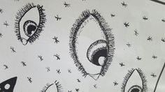 """Inkt """"er hangt wat in de lucht"""" detail"""