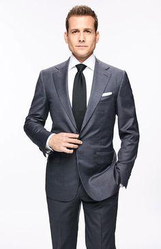Gabriel Macht in Suits Business Portrait, Corporate Portrait, Corporate Headshots, Suits Harvey, Harvey Specter Suits, Mens Dark Grey Suit, Black Suits, Trajes Harvey Specter, Suits Tv Series