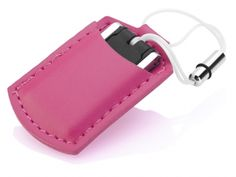 POUCHY (#USM6301) Mini metal USB flash drive with small sized PU leather pouch. Available in 4 trendy colors. www.pslworld.com